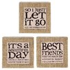 Blossom Bucket 3 Piece 'Beautiful Day/Best Friends/Let It Go' Box Sign Wall Decor Set (Set of 2)