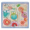 Blossom Bucket Owl Canvas Box Sign Wall Decor (Set of 2)
