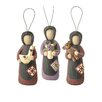 Blossom Bucket 3 Piece Amish Women with Duck/Bear/Flowers Ornament Set (Set of 2)