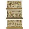 Blossom Bucket 3 Piece 'Journey/Love/One Step' Plaque on Base Letter Blocks Set (Set of 2)