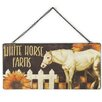 Blossom Bucket 'White Horse Farm' Sign Wall Decor (Set of 4)