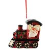 Blossom Bucket Santa LED Train Ornament (Set of 6)