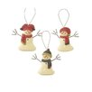Blossom Bucket 3 Piece Snowmen with Hat and Scarves Ornaments Set (Set of 2)