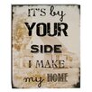 Blossom Bucket By Your Side Box Sign Wall Art (Set of 2)