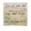 Blossom Bucket God Will Help Box Sign Wall Art (Set of 4)