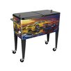 Sainty International 80 Qt. Blast By the Past Patio Rolling Cooler
