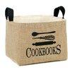 "A Southern Bucket ""Cookbooks"" Burlap Storage Basket"