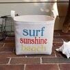 "A Southern Bucket ""Surf Sunshine Beach"" Burlap Storage Basket"