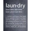 Evive Designs 'Laundry' by Susan Newberry Textual Art in Black and White