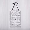 Adams & Co Grandma Sign Wall De'cor