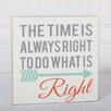 Adams & Co The Time is Right Block Wall Décor