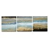 Artefx Decor Rising Tide Textured Triptych 3 Piece Painting Print on Canvas Set