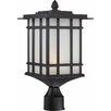 Volume Lighting 1 Light Outdoor Post Mount Lantern