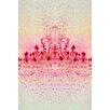 "Fluorescent Palace ""Chrystal Light Red"" Canvas Art"