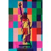 Fluorescent Palace 'Digital Liberty Multi' Graphic Art on Canvas