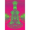 Fluorescent Palace Starlight Starbright Pink Graphic Art on Canvas