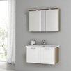 """ACF Bathroom Vanities New Space 32.7"""" Single Bathroom Vanity Set with Mirror"""