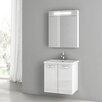 """ACF Bathroom Vanities City Play 22"""" Single Bathroom Vanity Set with Mirror"""