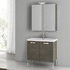 """ACF Bathroom Vanities City Play 29.9"""" Single Bathroom Vanity Set with Mirror"""