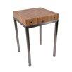 John Boos Metropolitan Designer Prep Table with Butcher Block Top