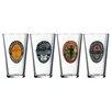 Luminarc Guinness 4 Piece 16 Oz. Vintage Bottlers Labels Pub Glass Set