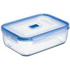 Luminarc Pure Box Active 8.3-Cup Rectangular Storage Box with Lid (Set of 6)
