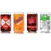 Luminarc Coca Cola Branded 4 Piece 16 Oz.Vintage Can Set