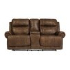 Signature Design by Ashley Austere Double Reclining Console Loveseat