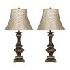 """Signature Design by Ashley Rosemary 31"""" H Table Lamp with Bell Shade (Set of 2)"""