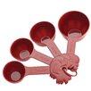 Paula Deen Signature Kitchen Tools 4 Piece Dry Melamine Measuring Cup Set