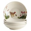 """Paula Deen Southern Rooster 4.3"""" Fruit Bowl (Set of 4)"""