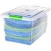 Iris 61 Quart Store and Slide Storage Box (Set of 6)