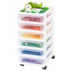 Iris 6 Drawer Rolling Storage Cart
