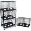 YML Four Medium Bird Cage with 4 Feeder Doors