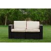 Strata Furniture Cielo Patio Loveseat with Cushion