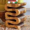 Strata Furniture Swerve Wave End Table