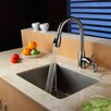 "Kraus 23"" x 18"" Undermount Single Bowl Kitchen Sink with Faucet and Soap Dispenser"