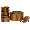Woodard & Charles Acacia Tulip 7 Piece Salad Bowl Set