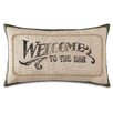 Eastern Accents Man Cave Welcome to the Bar Lumbar Pillow