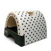 Kittyagogo Designer Cat Litter Box with Polka Dot Cover