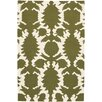 Chandra Rugs Thomaspaul Patterned Designer Green/Cream Area Rug