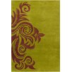 Chandra Rugs Allie Hand Tufted Wool Green/Brown Area Rug