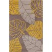 Chandra Rugs Allie Hand Tufted Wool Gray/Gold Area Rug