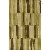 Chandra Rugs Allie Hand Tufted Wool Green Area Rug