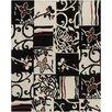 Chandra Rugs Hanu Black/Ivory Abstract Area Rug