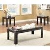 Hokku Designs Nayom Mirrored 3 Piece Coffee Table Set