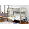 Hokku Designs Kostemia Twin Over Twin Bunk Bed with Ladder