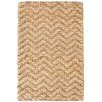 Kosas Home Chevron Gold Handspun Jute Area Rug