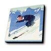 Lamp-In-A-Box Ski Vintage Painting Print