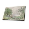 Lamp-In-A-Box Paintings of Pontoise 1877 by Camille Pissarro Painting Print